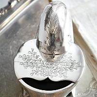 19th Century Silver Plate Spoon Warmer Maidenhair Ferns