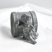 Antique Pairpoint Figural Napkin Ring with Cherub and Hat