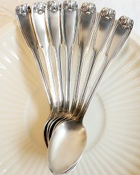 Antique Silver Plated Tea Demi Spoons Set of 7 1912