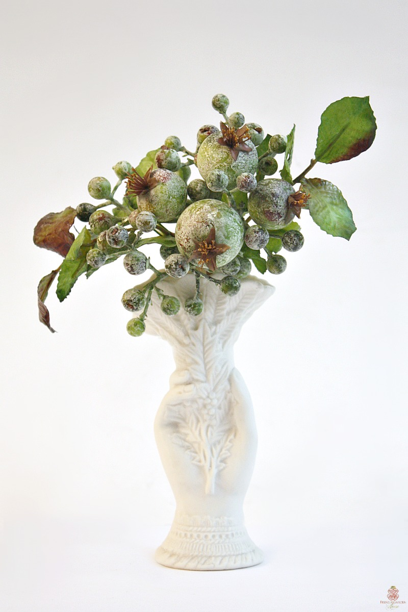Antique Hand Vase with Berries