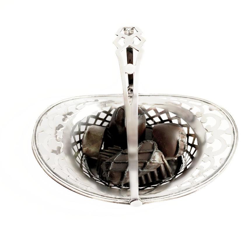 Antique Sterling Silver Bonbon Basket
