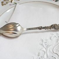 Antique Silver and Gilt Citrus Spoons Set of 6