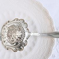 Antique Sterling Bonbon Spoon Server Lily