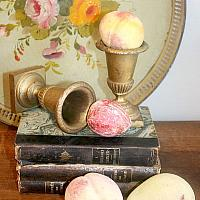 Collection of Four Antique Stone Fruits