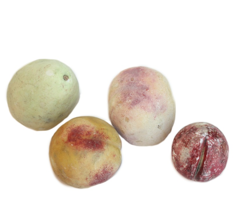 Antique Alabaster Marble Stone Fruit Collection