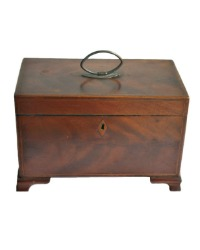 Antique Wood Inlaid Tea Caddy
