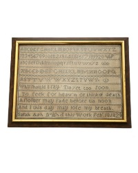 Antique 19th Century Sampler Sarah Ash