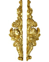 18th Century French Parcel Gilt Church Angels