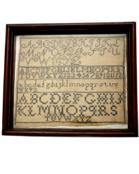 Antique 19th Century Sampler ABC