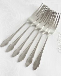 English Silver Plate Cake Forks Set of 6