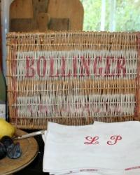 Vintage French Wicker Champagne Basket Bollinger