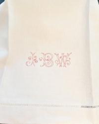 Antique Large Hand Monogrammed Large Towel JBW