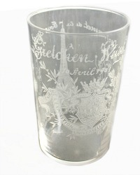 Rare Antique French Souvenir Glass 1901
