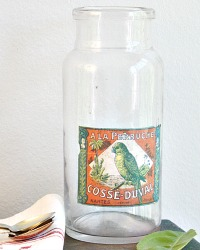 Antique Apothecary Jar a la Peruche
