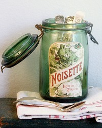 Vintage French Canning Jar Noisette