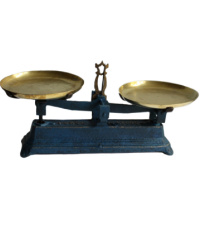 Antique French Balance Scale Blue & Gilt