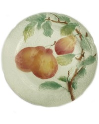 Antique French Faience Majolica Fruit Plate Pears
