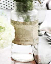 Antique French Glass Apothecary Jar