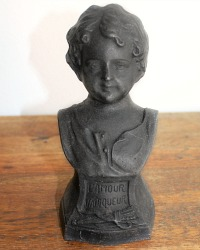 Antique French Cast Iron Figure l'Amour Vanqueur