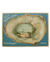 Antique French Trade Card Ocean Scene