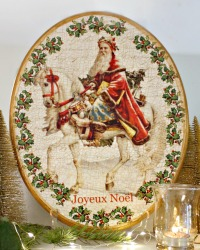 Limited Edition French Country Pere Noel Plaque