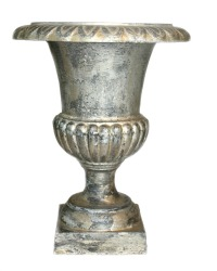 Antique French Cast Iron Medici Urn