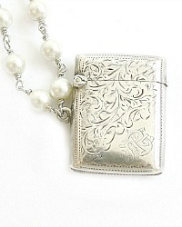 Antique Karen Lindner Designs Sterling English Vesta Necklace