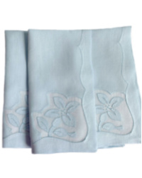 Vintage Madeira Soft Blue Napkins Set of 6