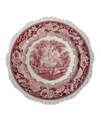 Red & White Transfer Plates Set 8