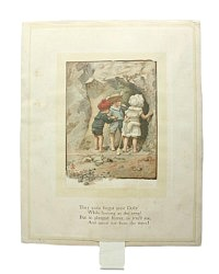 Antique Victorian Children's Book Page Seaside Scenes