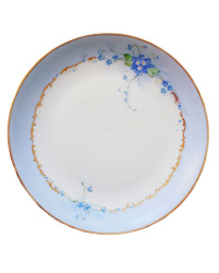 Heirloom Hand Painted Stouffer Forget-me-nots Floral Cabinet Plate