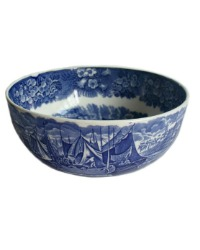 Wedgwood Ferrara Early Blue and White Large Bowl