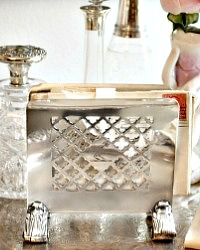 Vintage Hotel Silver Stationary Stand The Mercer