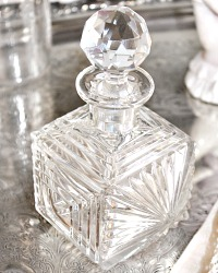 Art Deco Square Cut Perfume Bottle