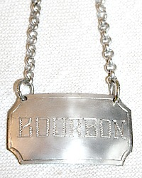 Estate Silver BOURBON Decanter Label