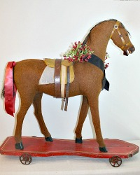 Antique French Country Child's Toy Riding Horse