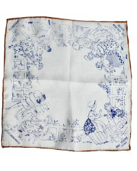 Vintage Silk Children's Handkerchief Little Snow White