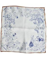 Vintage Silk Children's Handkerchief Little Snow White