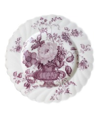 Vintage Royal Staffordshire French Basket With Flowers Lavender Dessert Plates