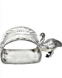 Antique Sheffield Silver Plate Figural Emu Napkin Ring
