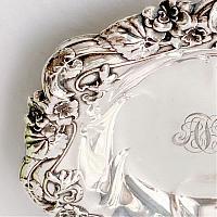 Sterling Silver Bailey Banks & Biddle Nouveau Flower Bonbon Bowl