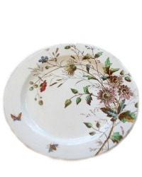 19th Century Floribel Polychrome Ironstone Charger Plate
