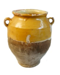 Antique Early French Confit Pot Marigold