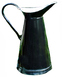 French Black Enameled Body Pitcher