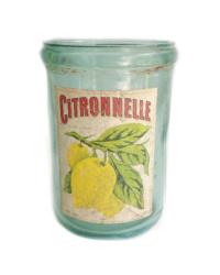 Vintage French Canning Jar Citronnelle Aqua