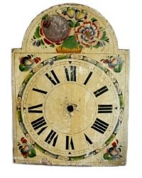 Antique Hand Painted Floral Clock Face