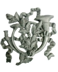 French Zinc Musical Instrument Wall Ornamentation