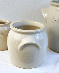 French Stoneware Storage Preserving Pot Medium
