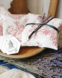Antique French Toile Lavender Sachet
