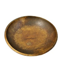 Antique Wood Dough Bowl